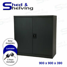 Metal Storage Stationary Cabinet Locker File Home Office Garage 900x900x390mm