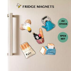 5 x Homeware Design Made of Resin Fridge Magnets Refrigerator Stickers SOUVENIR