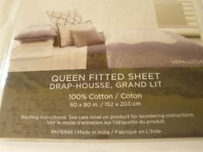 Vera Wang Lotus King Pillow Sham Couvre-Oreiller Tres Grand Lt New Purple Cotton