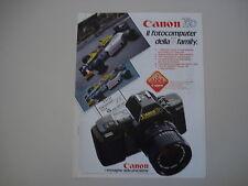 advertising Pubblicità 1985 CANON T70