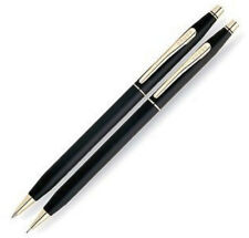Cross Century Black & Gold Ballpoint Pen & 0.7mm Pencil New In Box 250105