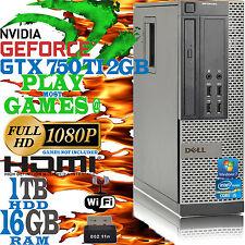 ultrarrápida Dell Quad Core i5 16gb 1tb Videojuego ordenador pc NVIDIA GTX 750