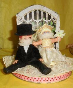 Wedding Cake Topper Doll Art Humor Groom Hungover Corona Love Today