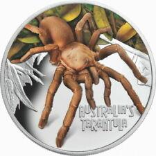 "Tuvalu 2020 1$ Deadly & Dangerous Tarantula SPIDER ""15"" 1 Oz Silver Proof Coin"