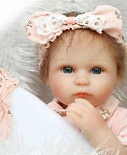 18''45cmSoft Silicone Lifelike Reborn Doll Newborn Baby Girl Look Real Xmas Gift