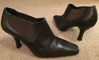 Women's M&S Marks & Spencers Insolia Brown Leather Shoe Boots Heel Size 3