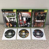 Original Xbox Tom Clancy 5 Game Lot Bundle Rainbow Six Ghost Recon Splinter Cell