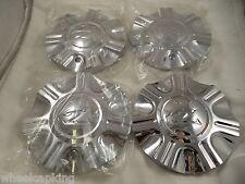 Zinik Wheels Chrome Custom Wheel Center Caps (SET OF 4 ) W/ BOLTS