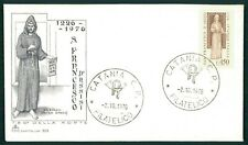 ITALY FDC 1976 SAINT ST. FRANCIS OF ASSISI ASIS FIRST DAY COVER BLACK ef10