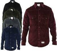 Mens Corduroy Casual Shirts Long Sleeve Cotton Shirt Jacksouth Jacket Top S-2XL