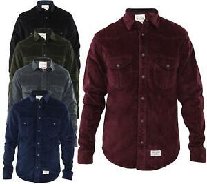 Mens Casual Shirts Corduroy Shirt Collar Long Sleeve Cotton Jacket Top S-2XL
