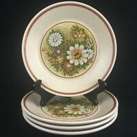 Set of 4 VTG Bread Plates by Lenox Temper-Ware Magic Garden Oven To Table USA