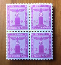 EBS Germany 1942 40 Pfennig Nazi Party Official Dienst BLOCK 4 Michel 165 MNH**