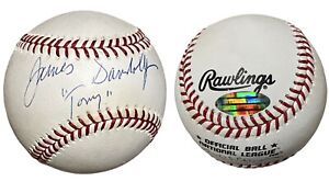 JAMES GANDOLFINI HAND SIGNED AUTOGRAPHED TONY SOPRANOS BASEBALL WITH STEINER COA