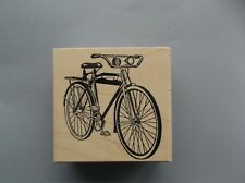 100 Proof Press Rubber Stamps Bicycle With Headlight New wood Stamp