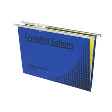 Crystalfile Coloured Suspension Files Foolscap Blue Pack of 10 - AA111222