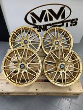 19 Zoll UA1 Alu Felgen 8,5x19 et45 5x112 Gold Gutachten für GTI R32 R RS S3 RS3