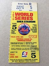1973 World Series Game 5 Koosman Win 10/18 New York Mets Oakland A's Ticket Stub