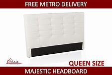 Brand New Majestic Queen Size White PU Leather Head Board - FREE METRO DELIVERY