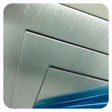 Set 2x CrNi-Stahl 1.4310  S 0,10mm   125x70x0,10mm Scotchbrite