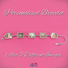 Personalised Bracelet - 5 Charms - Mothers Day Gift - Mum Bride Bridesmaids