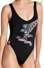 4348bb62ff4ee New ListingThe Bikini Lab Wild   Free One-Piece Swimsuit Size XL Black  Swimwear Side Cutout