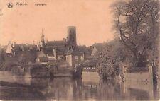 SELTEN alte Foto AK 1916 MEENEN Menen /Flandern@Panorama Rathaus Glockenturm