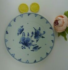 """Blue Delft ED Holland Hand Painted Signed Numbered 5362 Plate Flowers Floral 10"""""""