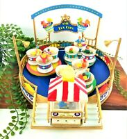 Lemax Christmas Carnival Village Tea Cups Ride 84808 Retired Rare Collect VIDEO
