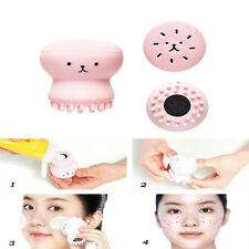 2 Head Pro Silicone Jellyfish Cleaning Makeup Washing Brush Drying Scrubber Tool