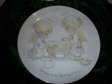 Porcelain Collector Plate Precious Moments Bringing God's Blessing To You.Edr