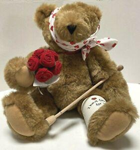 "Vermont Teddy Bear  Broken LegPlush "" Ive Fallen For You"" W/Crutch Bandage"