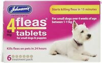 Johnsons Veterinary 4 Fleas Tablets For Small Dogs + Puppies Over 4 Weeks 1-11kg