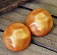 Vintage Earrings Clip-Ons Brown Caramel Costume Jewellery Retro Clips 50s 60s