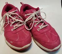 Women's Size 10W  Ryka Tempo Walking Shoes Fuchsia Low Top Lace Up Sneakers