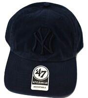 '47 Brand Mens MLB New York Yankees Baseball Clean-Up Strapback Dad Hat Cap New