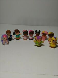 Lot of 10 Mixed Fisher Price Little People Toy Figures (Preowned) Poor Condition