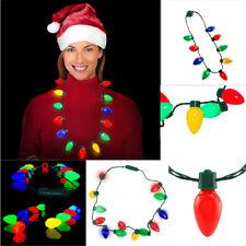 Retro Large Christmas C7 Bulb Necklace Light Up Flashing 13 LED Lights Christmas