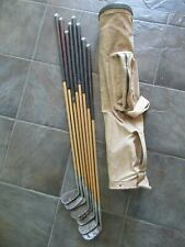 Vintage Golf Clubs/Lucky Dog/Lot Of 8/Canvas Bag/Need Cleaning/Stainless!