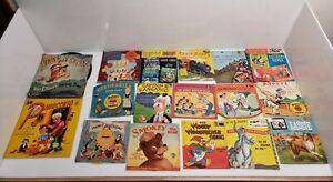 Vintage 1950's Childrens Musical Records Lot Of 28 Golden Disney Kids USA