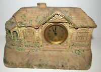 ANTIQUE THE LUX CLOCK MFG. CO. WATERBURY CONN, BUNGALOW CLOCK