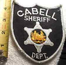CABELL WEST VIRGINIA SHERIFF PATCH (HIGHWAY PATROL, POLICE, SHERIFF, STATE)
