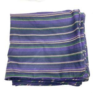 Vintage Ralph Lauren Studio Purple Stripe Cotton Standard Sham Pillow Case TWO