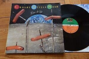 CROSBY, STILLS & NASH Live It Up LP Atlantic 7567-82107-1