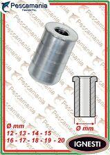 Boccola filettata in alluminio per guadino