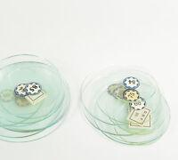 UHRGLAS flach f Wecker Tischuhr Kaminuhr Pendule Uhr Uhrmacher alarm clock glass