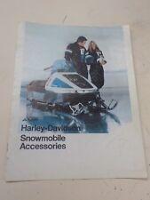 "Harley Davidson Snowmobile ""Nos"" 1975 Parts & Accessories Catalog #99600-75"