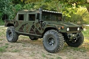 NEW AM GENERAL M-998 H1 HUMVEE 4 FOUR MAN SOFT CANVAS TOP WITH CURTAIN NOS CAMO