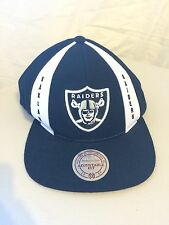 Oakland Raiders Snapback Hat Mitchell and Ness Vintage Black/White Classic Logo