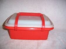 Tupperware Take a Long Storage Container 3 Pieces Harvest Orange Travels Well